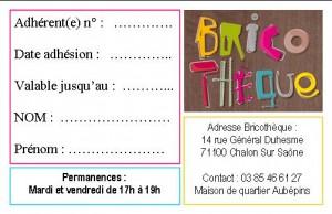 carte adhésion bricothèque - Copie